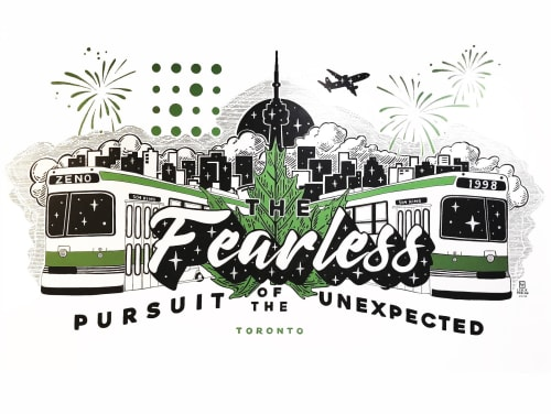Murals by Leslie Phelan Mural Art + Design seen at Zeno Group Canada, Toronto - The Fearless Pursuit of the Unexpected