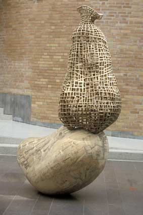 "Public Sculptures by Martin Linge seen at Oslo University Hospital, Ris - ""Skulptur III"""