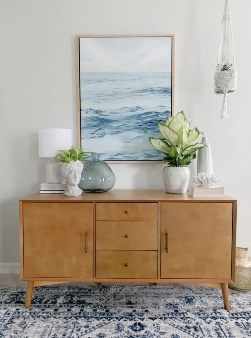 Paintings by Stephie Jones Art seen at Private Residence, Virginia Beach - I Am Yourself, ocean waves painting.