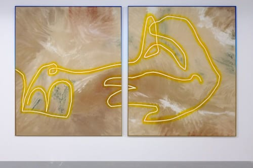 Tanning Salon in Hinkley (diptych), | Paintings by THEODORE B. BOYER | Soho House West Hollywood in West Hollywood