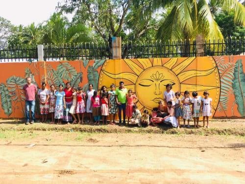 Murals by Arlette Beerenfenger seen at Anuradhapura, Anuradhapura - Avanthi Devi shelterhome