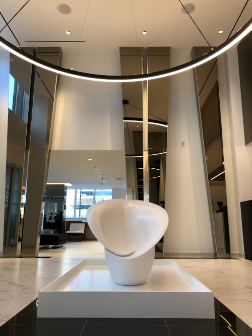 Sculptures by Art and Objects Inc. seen at Grenadier Square at High Park Village, Toronto - Custom Made Sculpture for Residential Lobby