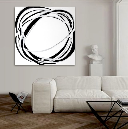 Paintings by Linnea Heide contemporary fine art seen at Private Residence - 'CiRCE' original abstract painting by Linnea Heide