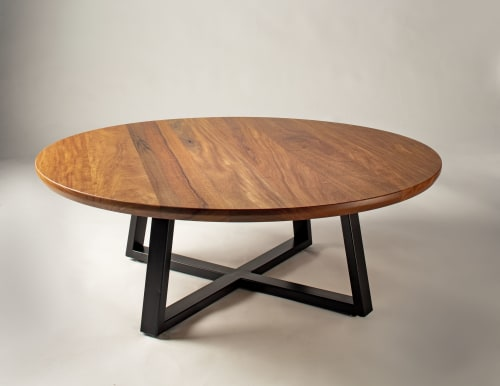 Tables by Kenichi Woodworking seen at Private Residence - Aspen, CO, Aspen - Cumaru Coffee Table with Custom Steel Powder Coated Legs