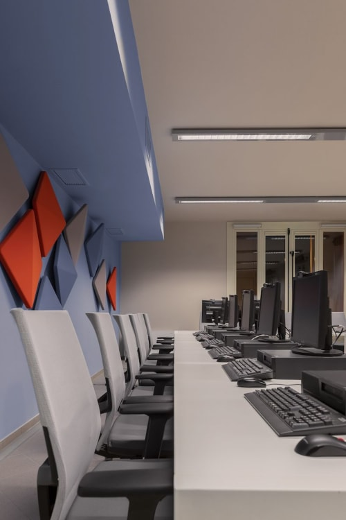 Chairs by Estel Group seen at Unica Corporate Academy, Bologna - Chairs