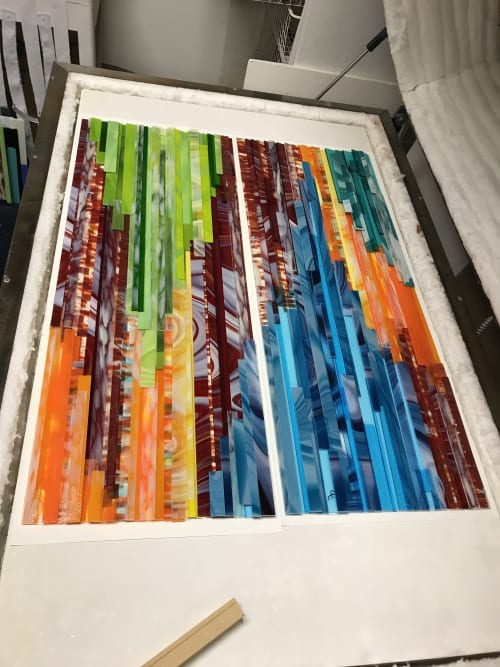 Wall Hangings by Natalie Ventimiglia seen at Private Residence, Denver - Source Energy--Moats