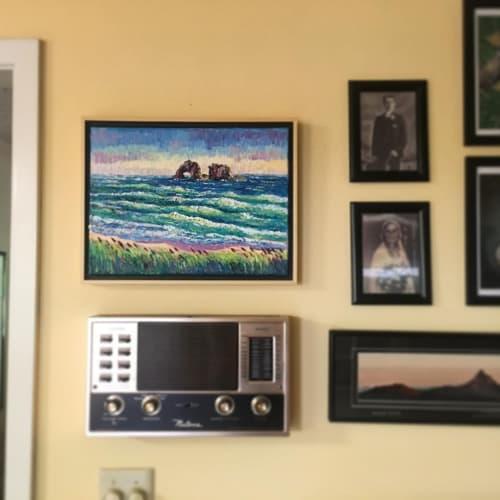 """Paintings by Eryn Tehan seen at Private Residence, Portland - """"Rockaway Beach"""" Painting"""