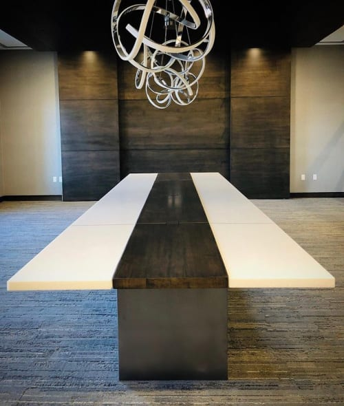 Tables by AW Woodworks seen at 4771 Astragalus Drive, St. George - Stone and Solid Wood Table
