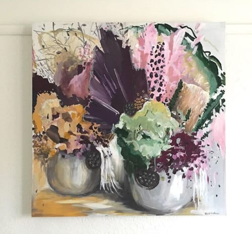 Paintings by Nicole Hasthorpe Art seen at Art and Abode Melbourne, Chirnside Park - Wallflower