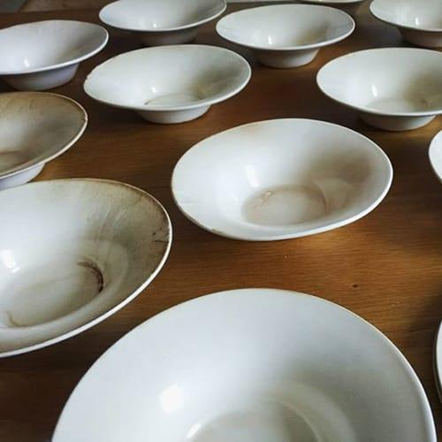 Ceramic Plates by MALGA Ceramic Design by Mariana Filipe seen at Santa Clara 1728, Lisboa - Tall Plate