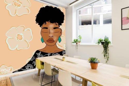 At peace woman portrait mural