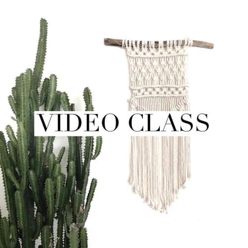 """Macrame Wall Hanging by Home Vibes Macrame seen at Creator's Studio, Gold Coast - Beginner Macrame Wall Hanging Class """"Nomad"""" Pattern"""