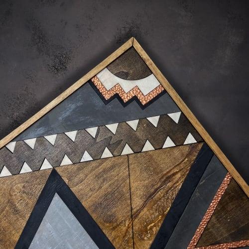 Wall Hangings by Skal Collective - ''Naia'' Wood Wall Art