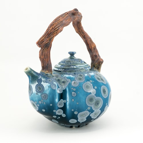 Tableware by Kaolin Tiger Studios seen at Private Residence, Chester - Crystalline Teapot w/Sculpted Handle