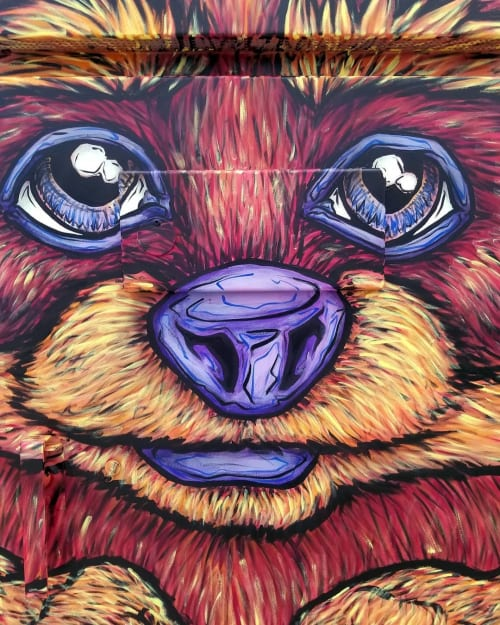Street Murals by Jeff Blackburn seen at Etobicoke, Toronto - Raccoon Box