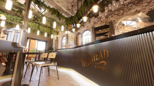 Interior Design by Liqui Group seen at Private Residence, Bristol - The Wellhead Cocktail Bar