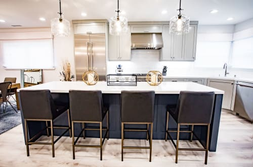 Furniture by CC Furniture & Cabinetry seen at Private Residence, Seal Beach - Kelly Residence- Custom Cabinetry