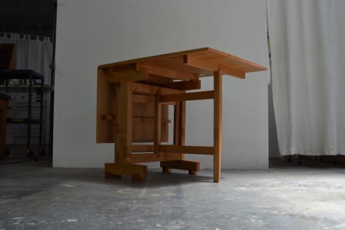 Tables by Kanna Woodcraft seen at Creator's Studio, Oakland - Drop Leaf Dining Table