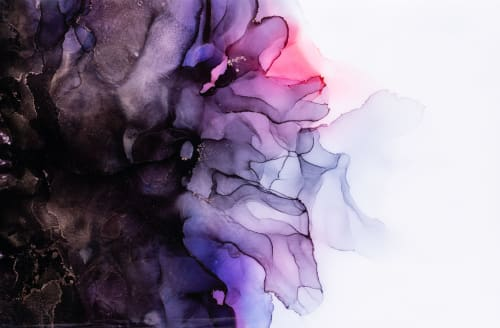 BLACK ORCHID V   Paintings by Christina Twomey Art + Design