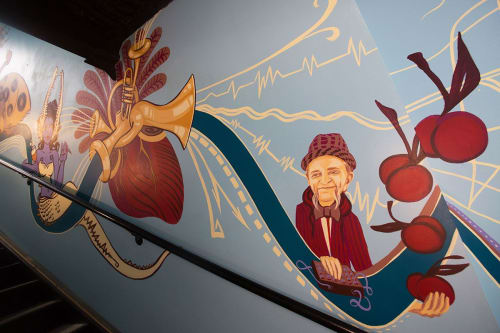 Murals by Monica Rose Kelly seen at NOLA Brewing Tap Room, New Orleans - The Heart of the City