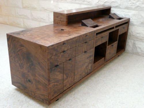 Tables by stranger furniture seen at Hollywood & Highland, Los Angeles - Reception Desk