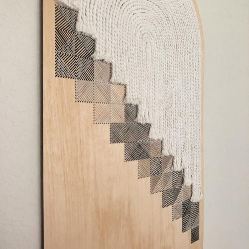 CURVED CROSSHATCH NO.3 WALL ART | Wall Hangings by Nosheen iqbal