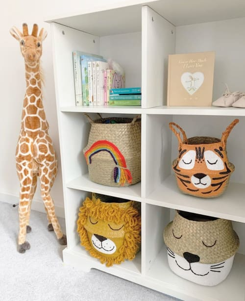 Furniture by Bellybambino seen at Private Residence, Drayton - Seagrass toy basket