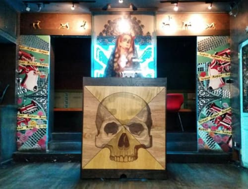 Furniture by mike angliss - anghi seen at House of Maximón, Melbourne - DJ Booth