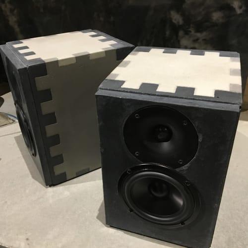 Hardware by Michael Karmody seen at Brick Coworkshop, Holyoke - Concrete speakers