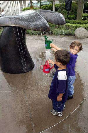 Public Sculptures by Gloria Bornstein seen at Seattle Center, Seattle - Neototems Children's Garden