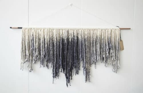 Wall Hangings by Black Sage Decor seen at Private Residence, Gilbert - Dyed Rock