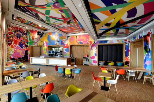 Murals by assume vivid astro focus at Kunsthal KAdE, Amersfoort - Kade Cafeteria
