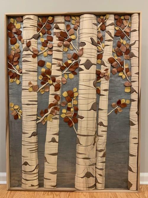Sculptures by Meleah Gabhart Art seen at Forest & Ocean Gallery, Laguna Beach - Aspen Trees