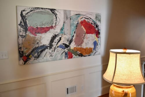 "Paintings by Michael Patterson ""push paint studios"" Charlotte NC USA seen at Private Residence, Augusta - Same Session Light     modern abstract large canvas."