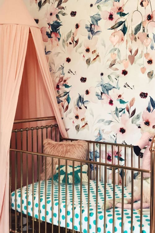 Murals by Wallflora seen at New York, New York - Floral mural for whimsical nursery