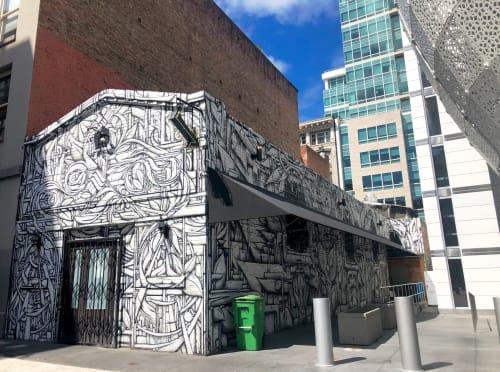 Street Murals by Ian Ross seen at Natoma Cabana, San Francisco - Mural In The Notoma Cabana Building