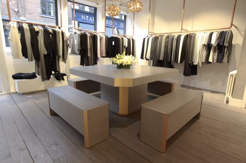 Tables by Studio Warm seen at Kit and ACe, London - Bespoke Supper Club Table