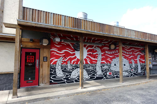 Murals by Will Hatch Crosby seen at Ramen Tatsu-Ya, Austin - Noodle Paradise Mural