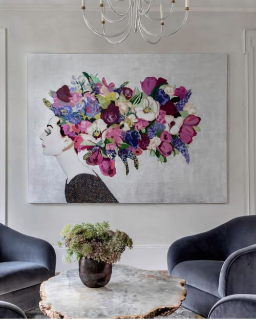 Paintings by Ashley Longshore at Private Residence, Houston - Audrey