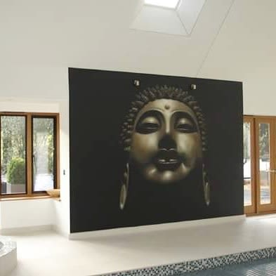Murals by Inspire Murals seen at Private Residence, Weybridge - Buddha Mural