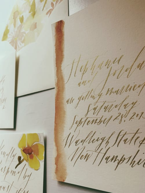 Signage by Paper Cliché seen at Private Residence, Costa Mesa - Custom Paper Goods
