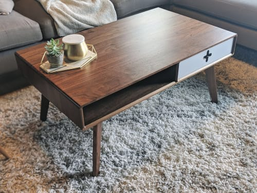Furniture by Max Moody Design seen at Private Residence, Chattanooga - Coffee Table Plus - Mid Century Modern Walnut Coffee Table