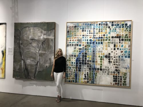 Paintings by Gebhardt Gallery seen at Red Dot Art Fair, Miami - Red Dot Miami Art Basel Week 2018