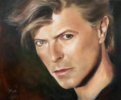 Paintings by Xinh Art seen at Private Residence, Sydney - David Bowie