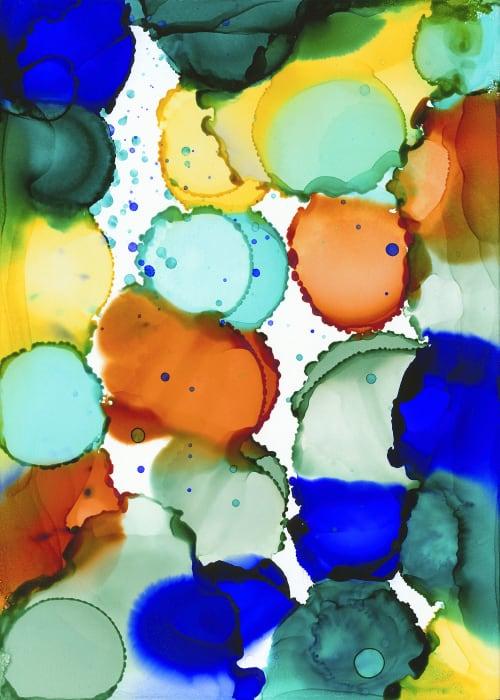Paintings by Julie Pelaez Studios seen at Reveal Dental, Cedar Park - Framed Art Prints for Dentist Waiting Room