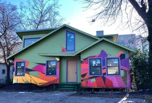 Street Murals by Sloke One seen at Private Residence, Austin - Outdoor Mural