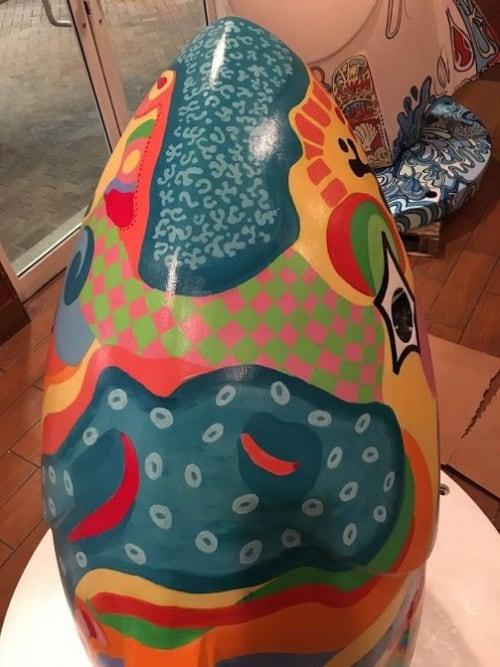 Public Sculptures by Missy Pierce seen at Pompano Beach Cultural Center, Pompano Beach - Painted city sculptures--public art
