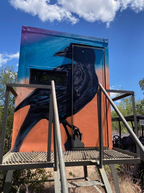 Murals by Sam Soper — Art & Illustration seen at Private Residence, Brownwood - Old Crow Box Blind Mural