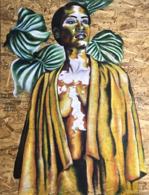 Paintings by Afrocentric Keyy seen at New York, New York - Vivid