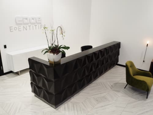 Furniture by Project Sunday seen at Edge | The Service Company, Orem - Reception Desk